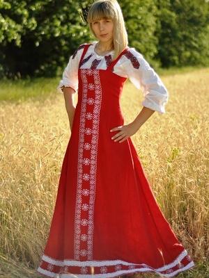 картинки сарафан русский