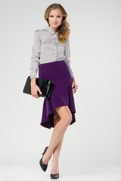 С чем носить сиреневую юбку карандаш