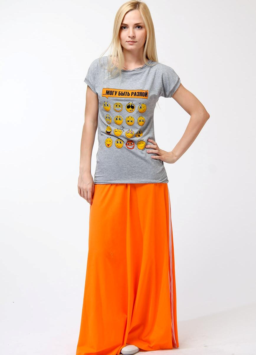 Оранжевая юбка с чем сочетается