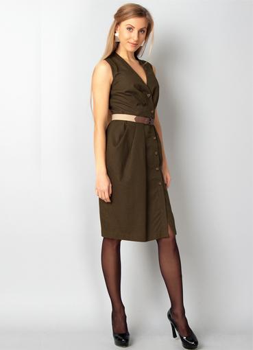 Хаки цвет платье