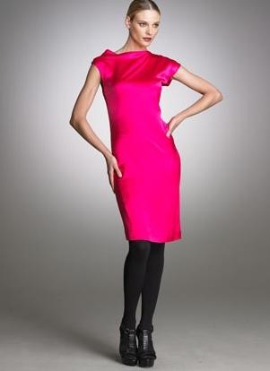 малиновое платье с чем носить фото
