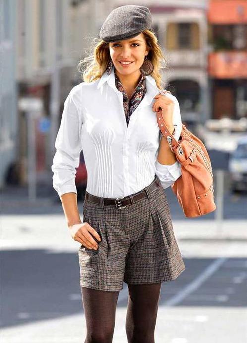 Теплые шорты женские с чем носить