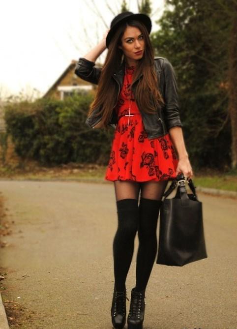 Чулки и юбка как носит