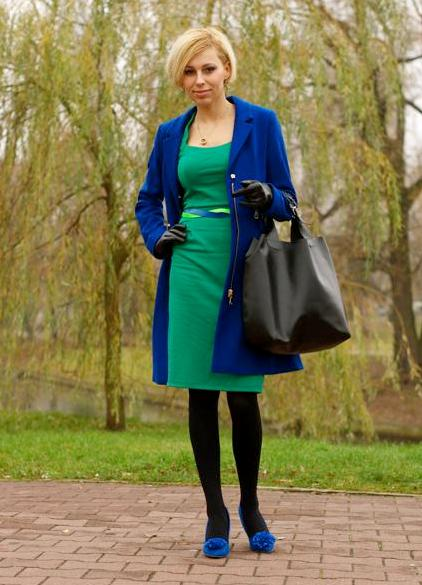 Салатовое платье с чем носить фото