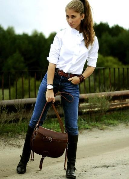 Девушка в джинсах и сапогах фото фото 237-906