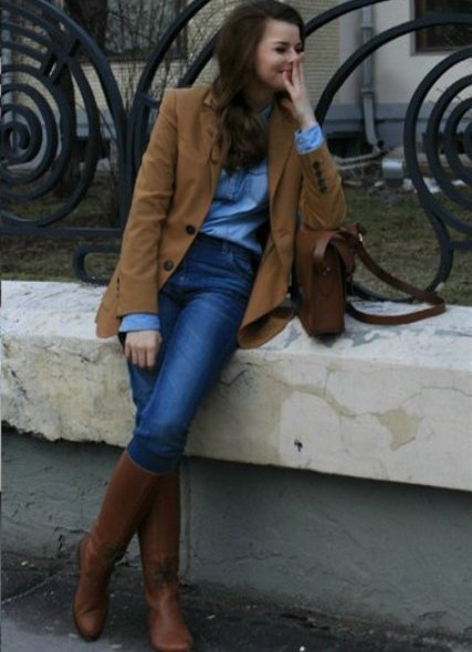 Девушка в джинсах и сапогах фото фото 237-480