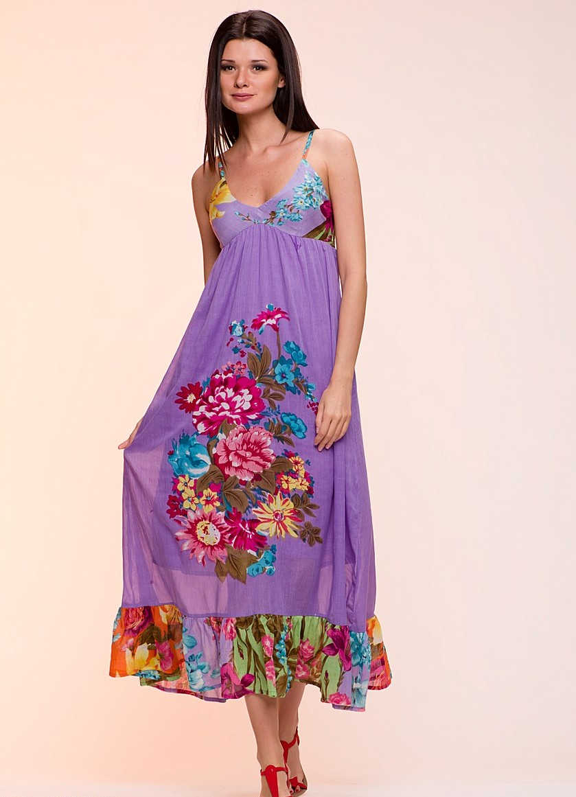 Летние длинные сарафаны- модные и стильные | Модные платья 2015