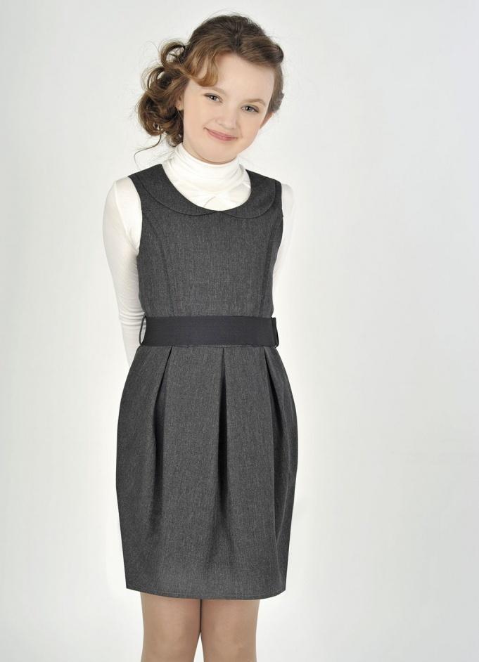 Школьные платья для девочек синего цвета