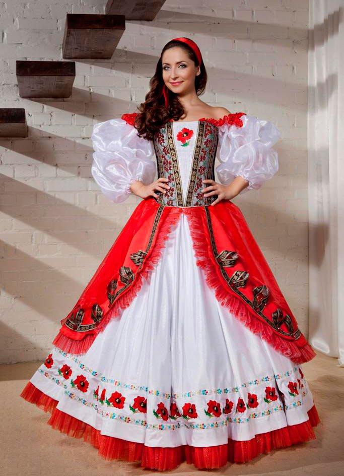 Славянские платья свадебные