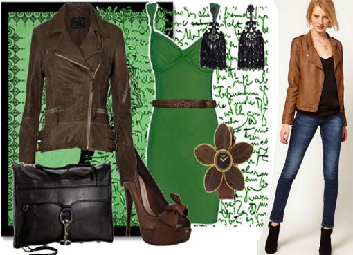 Сочетание коричневого цвета с другими цветами в одежде фото