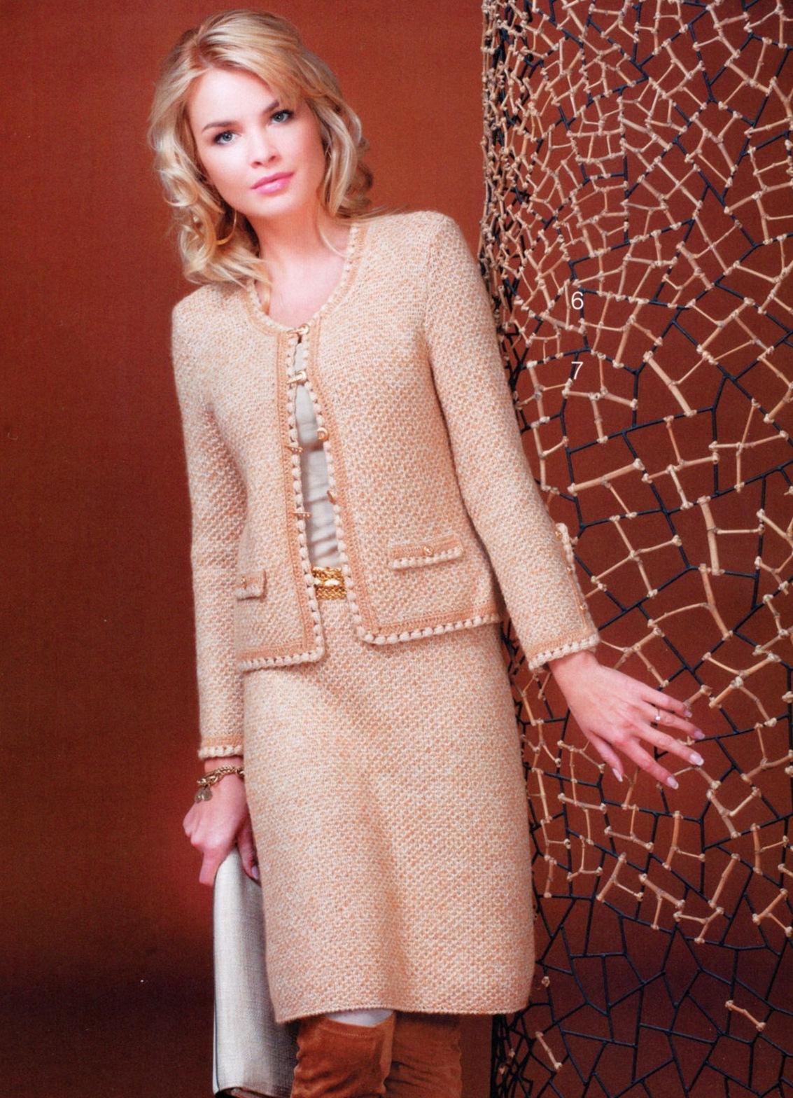 Вязанные костюмы для женщин спицами схемы