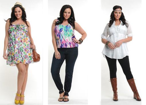 Модная и стильная одежда для полных