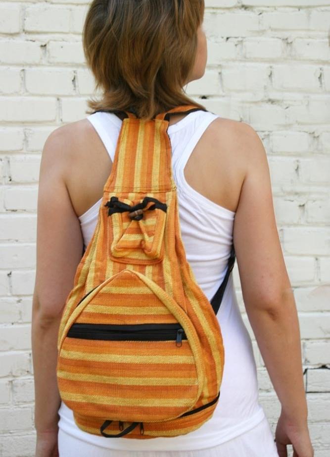 Вязаный, комфортный рюкзак