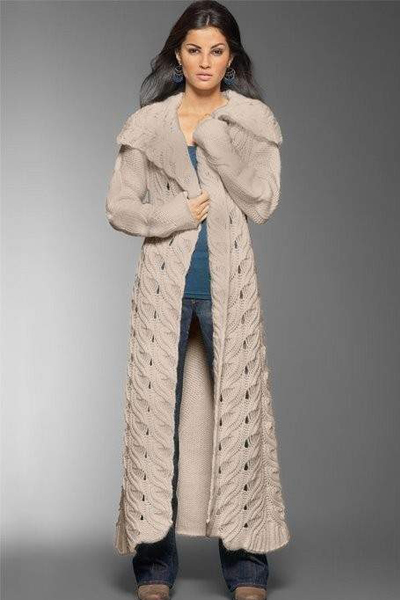 Модели вязаного пальто