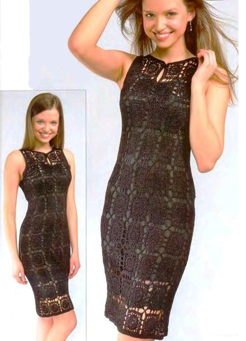 Вязание крючком ажурное платье видео - 2015 год фото #2. Платья, туники, сарафаны для женщин крючком