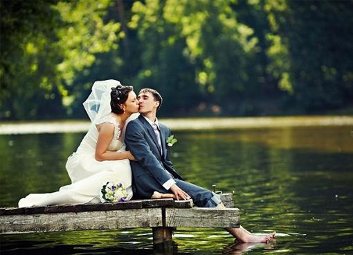 Фотосессия свадебная на природе летом