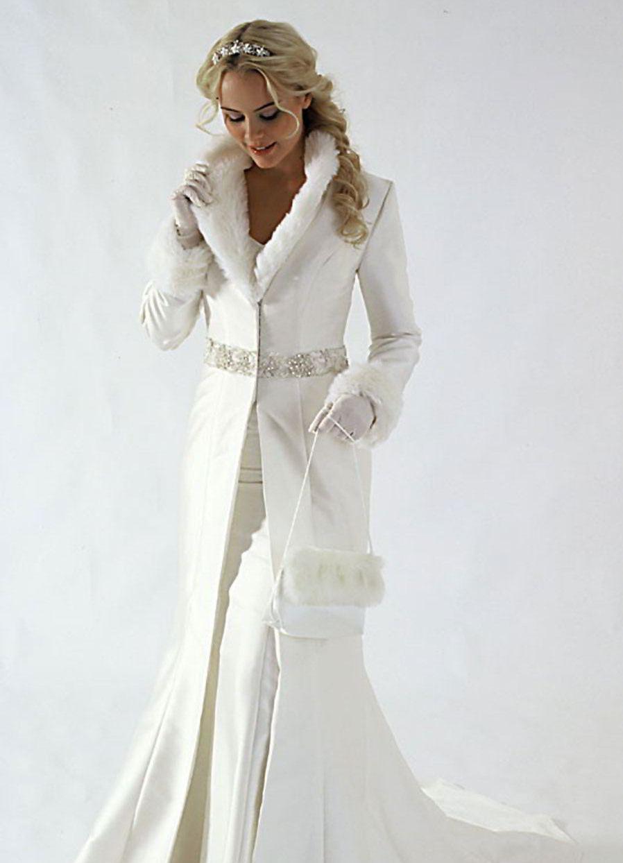 Шубки на свадебное платья