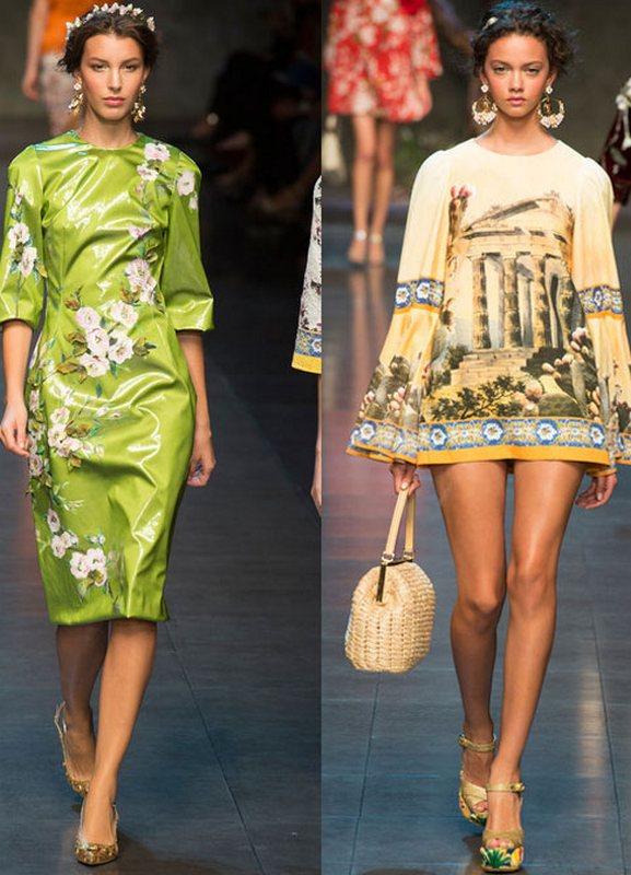 Мода весна лето платья