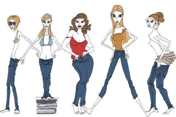 типы фигуры и одежда