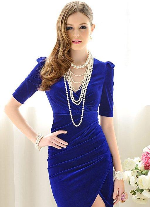 Бижутерия для синего платье