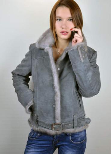 Модные кожаные женские дубленки из овчины , купить дубленку женскую , замшевая куртка