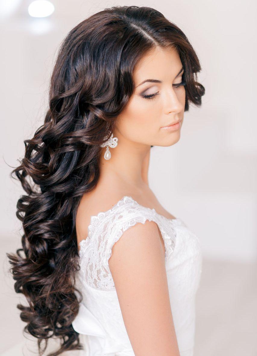 Вечерние свадебные прически на длинные волосы фото