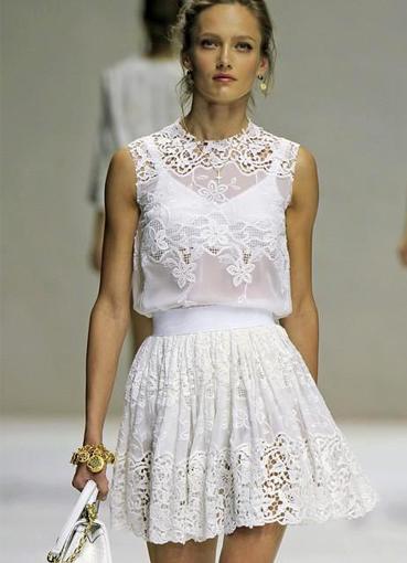 Платье с венецианским кружевом