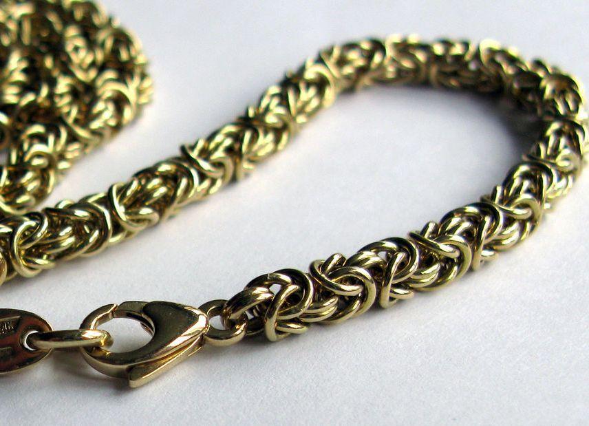 Крепкое плетение серебряной цепочки