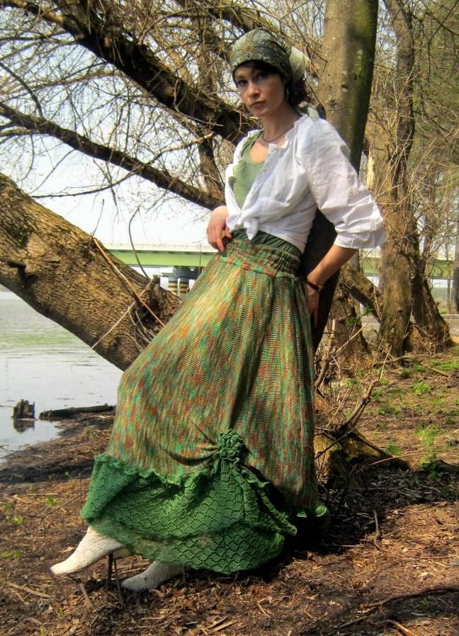 Оригинальная юбка бохо