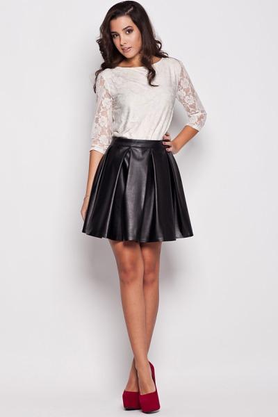 Пышная юбка с высокой талией фото