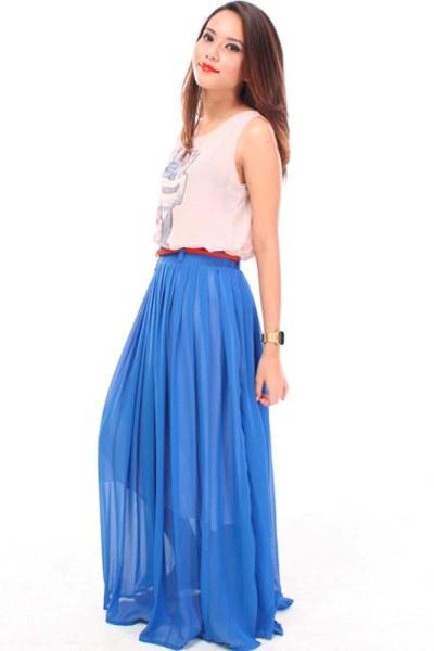 Молодежные длинные юбки