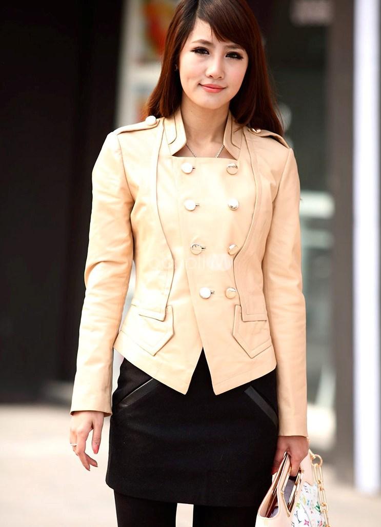 Короткие кожаные куртки женские 2014