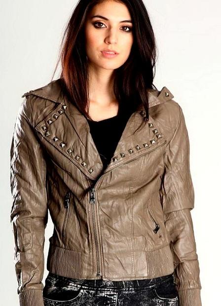 Кожаные женские куртки – весна 2014