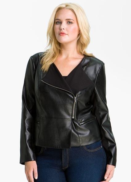 8347d287a52 Модные кожаные куртки и жакеты для полных девушек и женщин.
