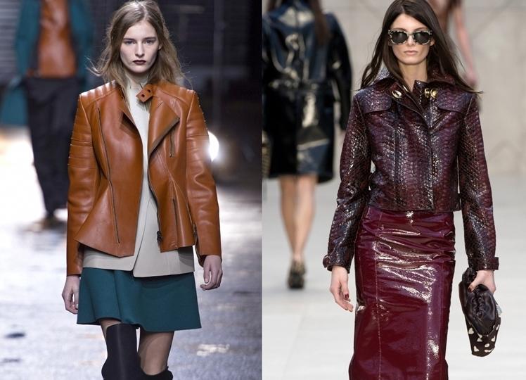 Модные Кожаные Куртки Осень 2014