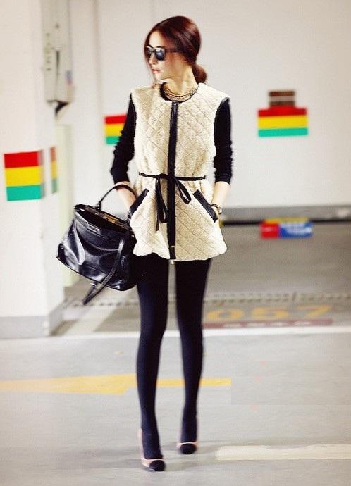 Теплые модные жилеты