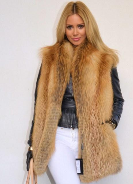 модные жилеты из лисы, фото