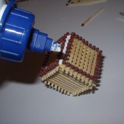 как сделать кубик из спичек 12