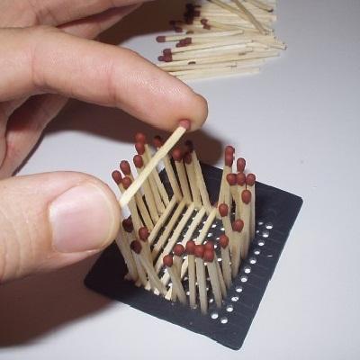 как сделать кубик из спичек 5