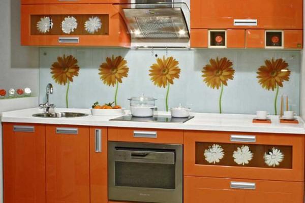 Кухонный фартук из стекла5