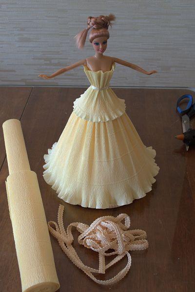 платье из мотивов с длинным рукавом