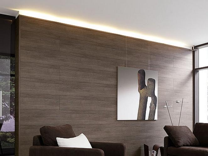 Фото ламината на стене в интерьере