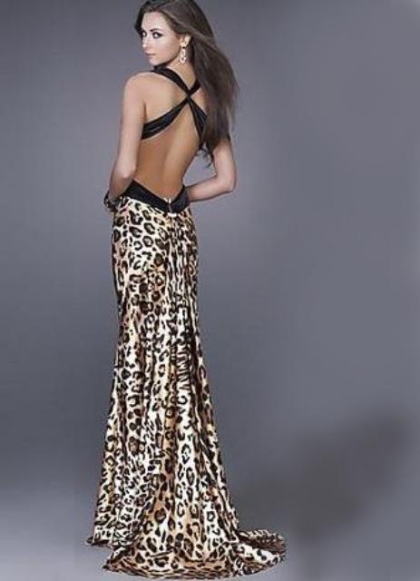 Леопардовое платье 2013