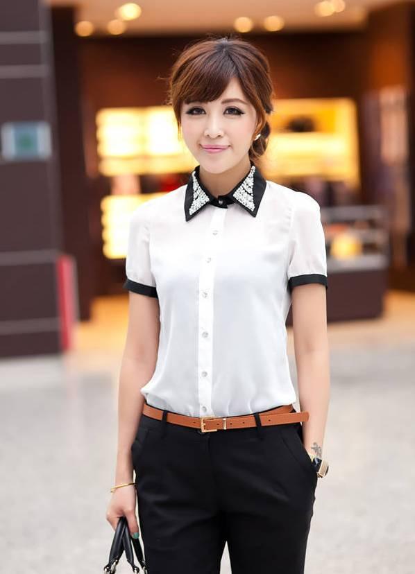 Летние блузки с коротким рукавом