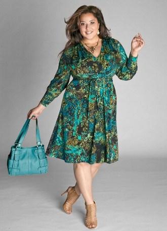 летние платья для полных женщин 1