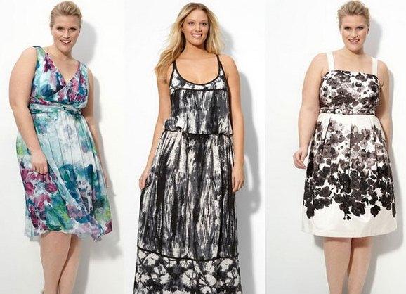 Например, что платья летние для полных женщин должны свободными быть. . Забудьте об этом. . Ведь бесформенный или
