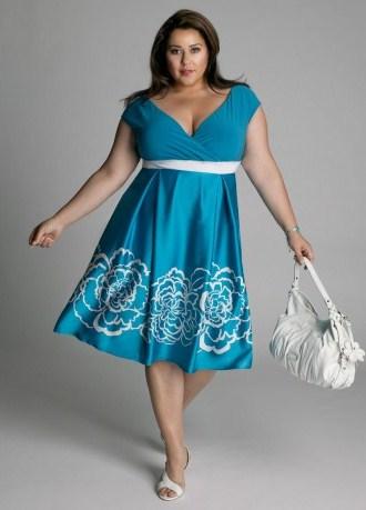 летние платья для полных женщин 3