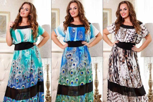 летние платья и сарафаны для полных 2015 1