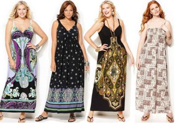 летние платья и сарафаны для полных 2015 3