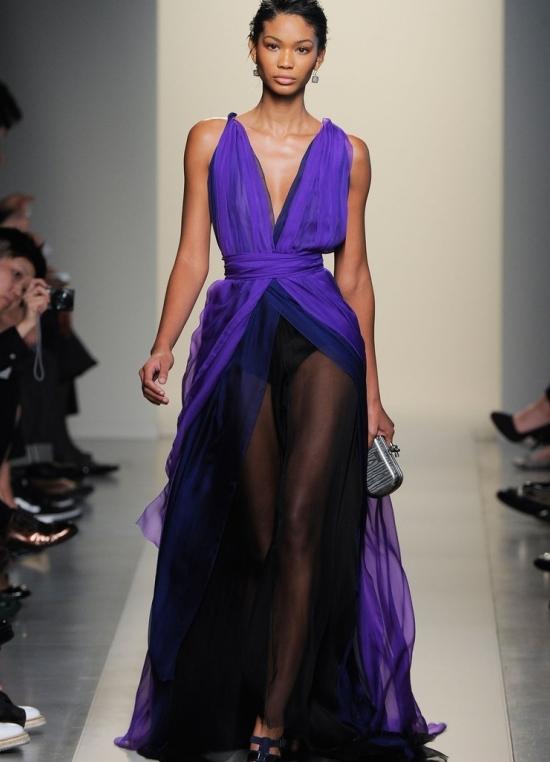 Фото платья из шифона